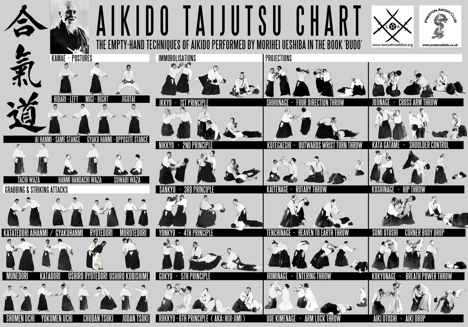 aikido technical chart